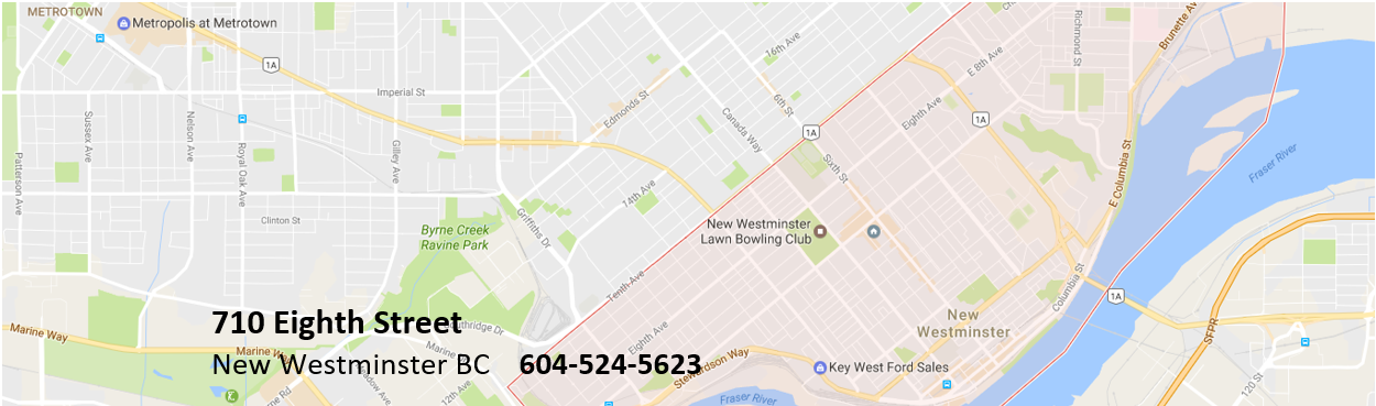 Contact Us Map New West Bowls
